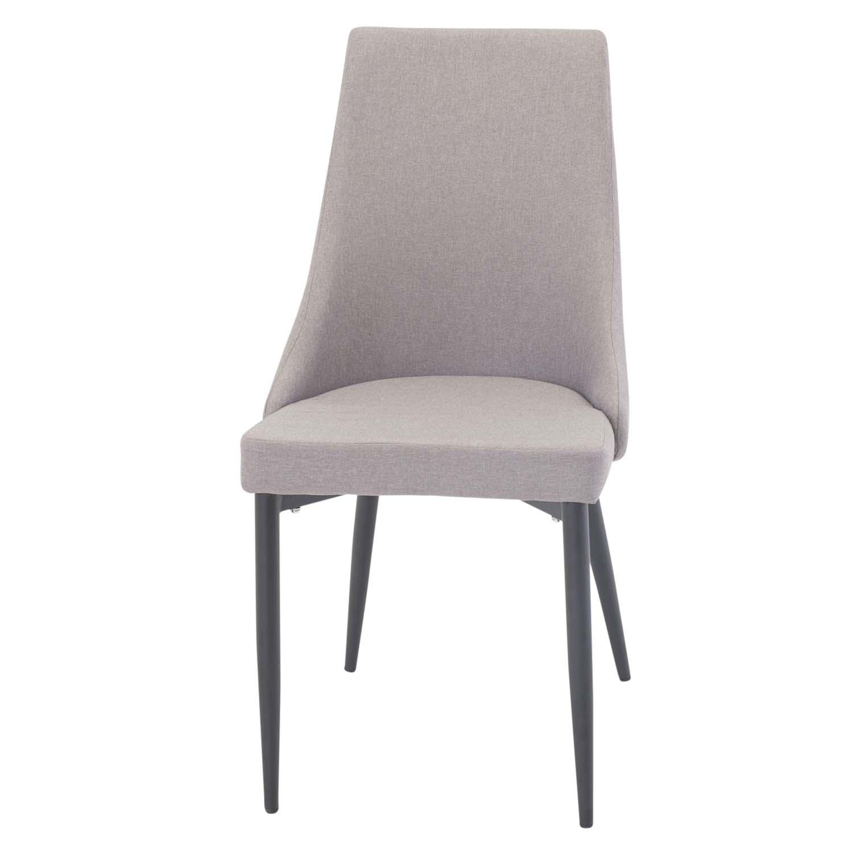VENTURE DESIGN Leone 2.0 spisebordsstol, m. armlæn - grå polyester og sort metal