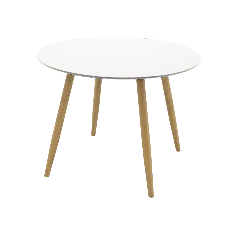 venture design Venture design plaza spisebord - hvid mdf og natur metal (ø100) fra boboonline.dk