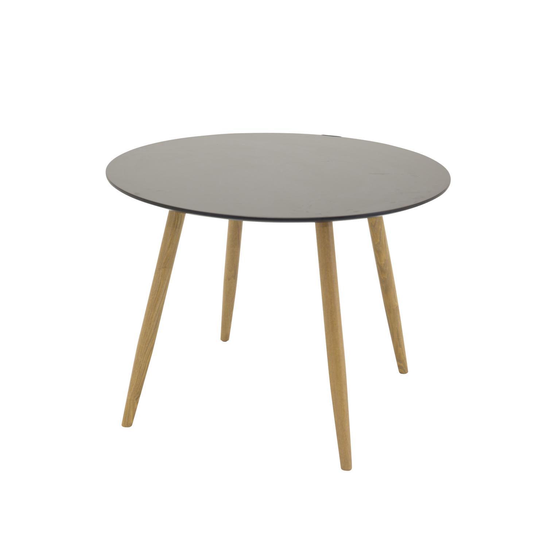 venture design Venture design plaza spisebord - sort mdf og natur metal (ø100) på boboonline.dk