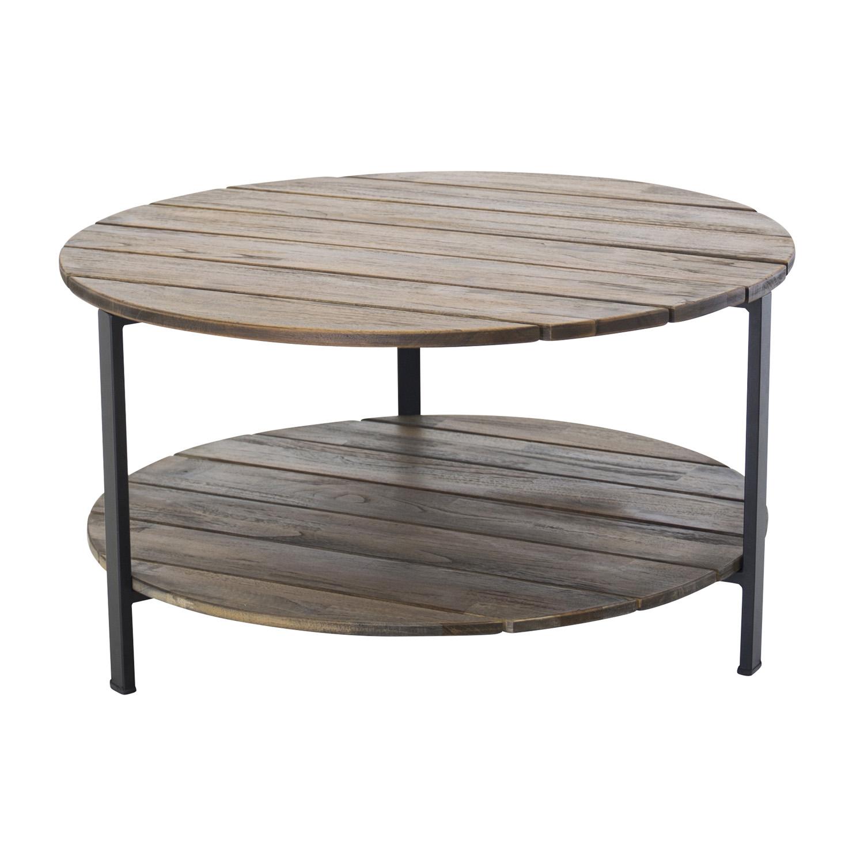 Venture design jakarta sofabord, m. hylde - brun træ og metal fra venture design fra boboonline.dk