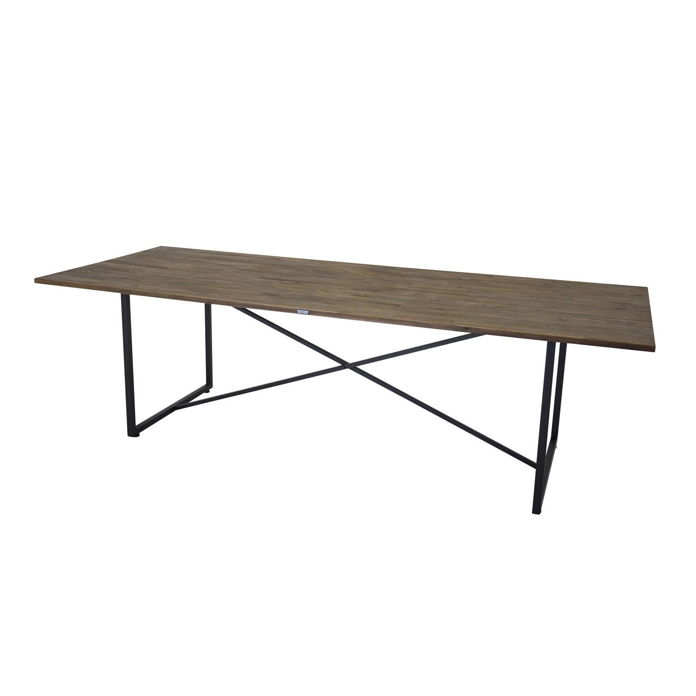 VENTURE DESIGN Padang spisebord - brun teaktræ og metal (250x100)