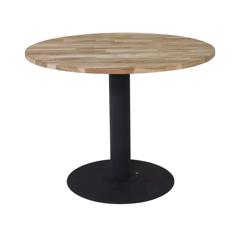 Venture design cirebon spisebord - natur teaktræ og sort metal (ø100) fra venture design fra boboonline.dk