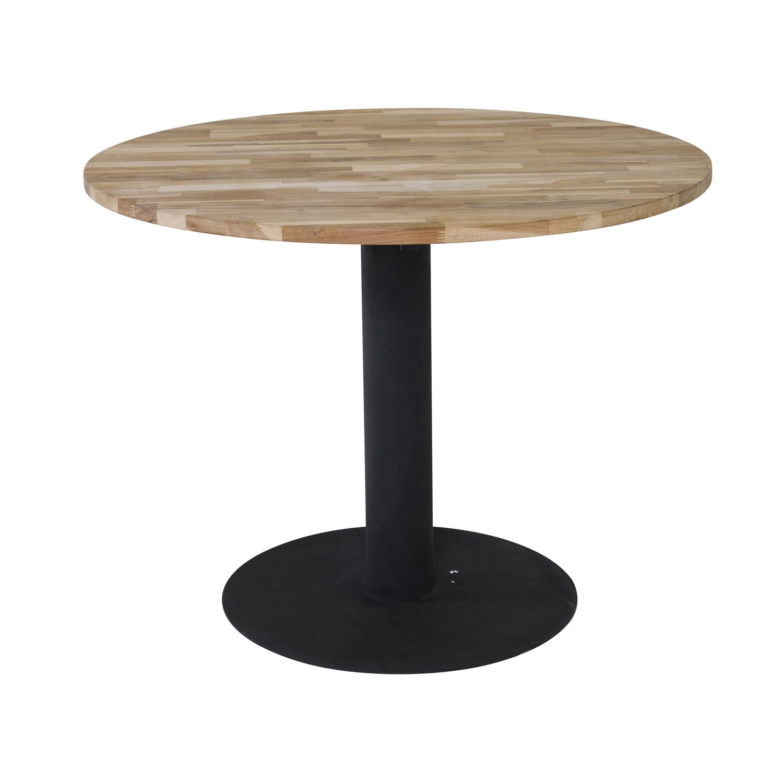 venture design Venture design cirebon spisebord - natur teaktræ og sort metal (ø140) fra boboonline.dk