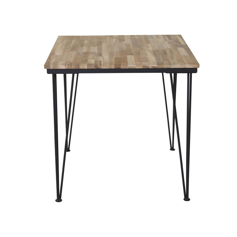 venture design – Venture design bali spisebord - natur teaktræ og sort metal (80x80) fra boboonline.dk