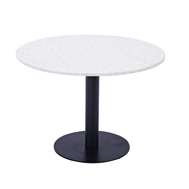 venture design Venture design razzia spisebord - hvid terrazzo og sort metal (ø106) på boboonline.dk