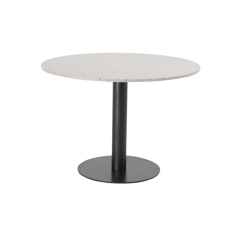 venture design Venture design razzia spisebord - grå terrazzo og sort metal (ø106) på boboonline.dk