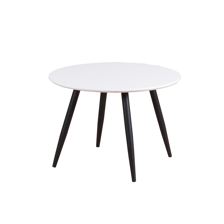 venture design Venture design plaza spisebord - hvid mdf og sort metal (ø60) fra boboonline.dk