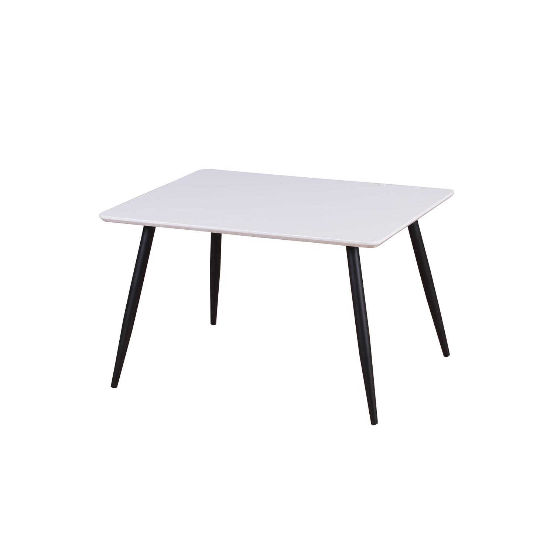 Venture design polar spisebord - hvid mdf og sort metal (80x60) fra venture design på boboonline.dk