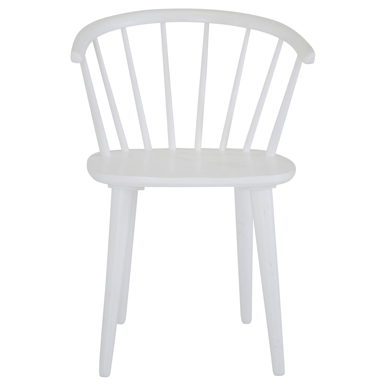 VENTURE DESIGN Bullerbyn spisebordsstol, m. armlæn - hvid gummitræ