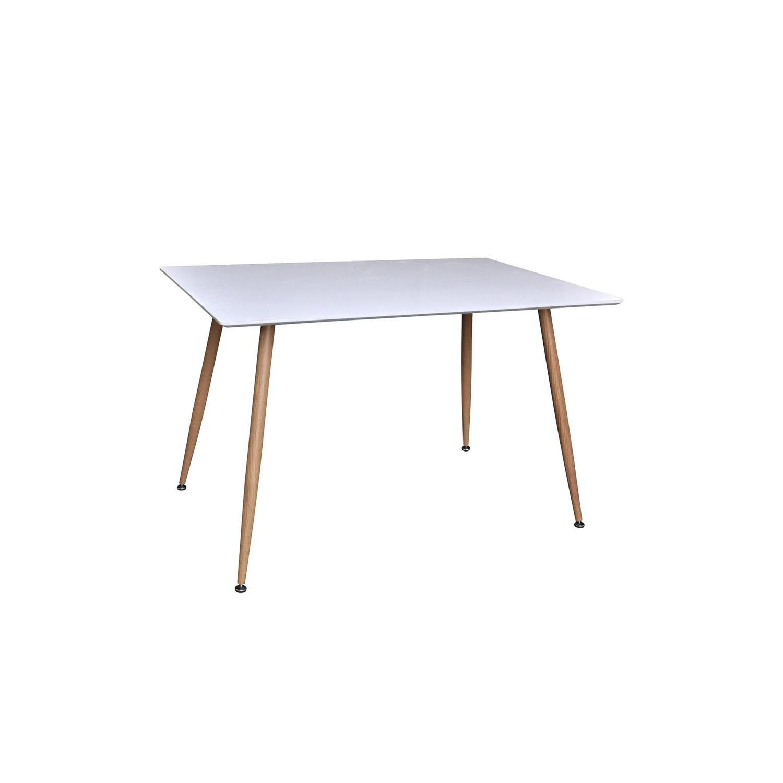 venture design Venture design polar spisebord - hvid mdf og natur metal (120x75) fra boboonline.dk