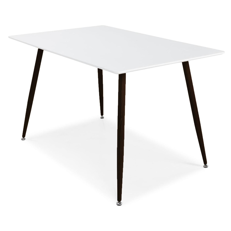 venture design – Venture design polar spisebord - hvid mdf og sort metal (120x75) på boboonline.dk