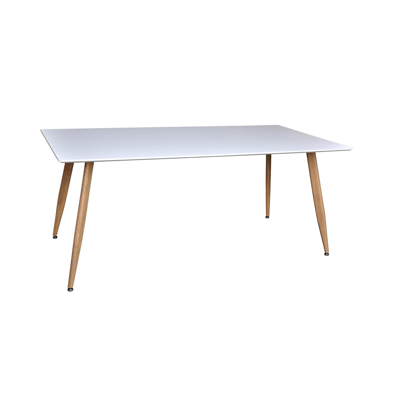 venture design – Venture design polar spisebord - hvid mdf og natur metal (180x90) på boboonline.dk