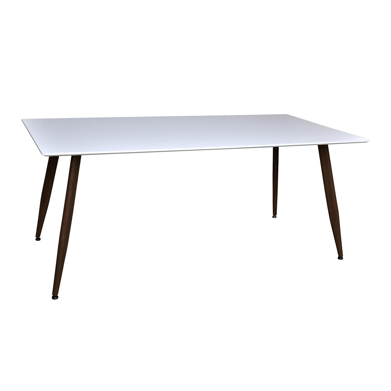 venture design – Venture design polar spisebord - hvid mdf og sort metal (180x90) fra boboonline.dk