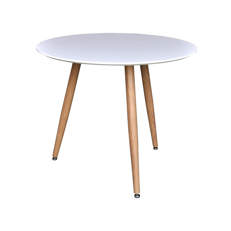 venture design – Venture design polar spisebord - hvid mdf og natur metal (ø90) på boboonline.dk