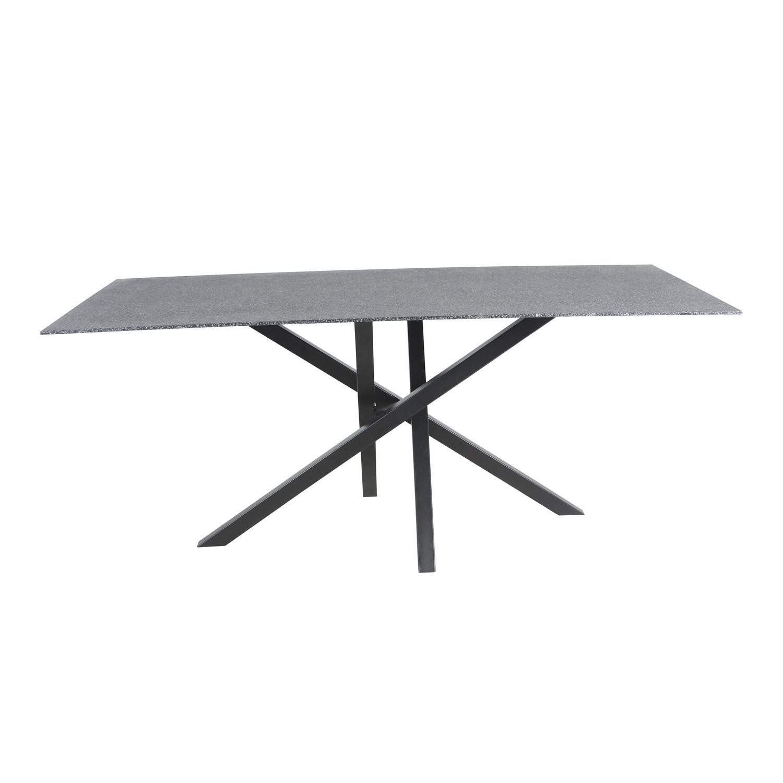 venture design – Venture design piazza spisebord - sort sprayglas og metal (180x90) på boboonline.dk