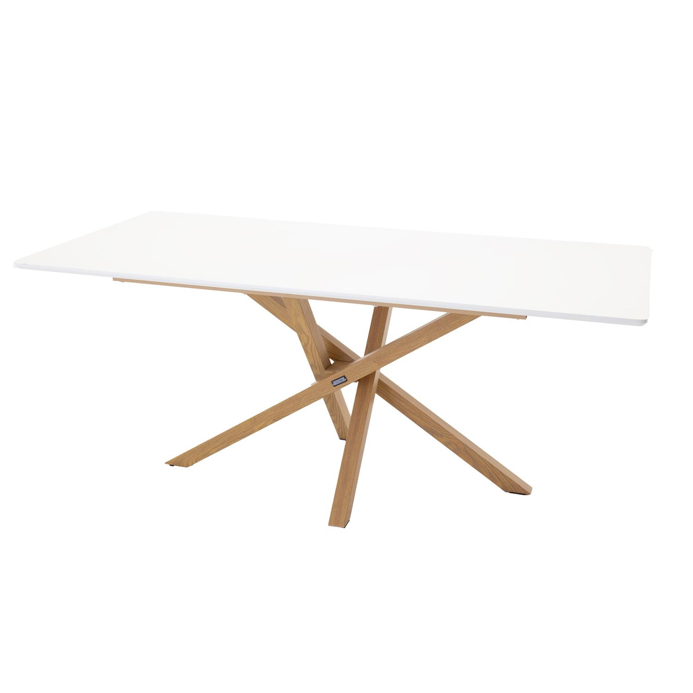 venture design – Venture design piazza spisebord - hvid mdf og natur metal (180x90) på boboonline.dk