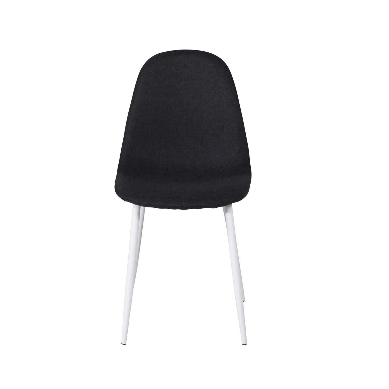 VENTURE DESIGN Polar spisebordsstol - sort polyester og hvid metal