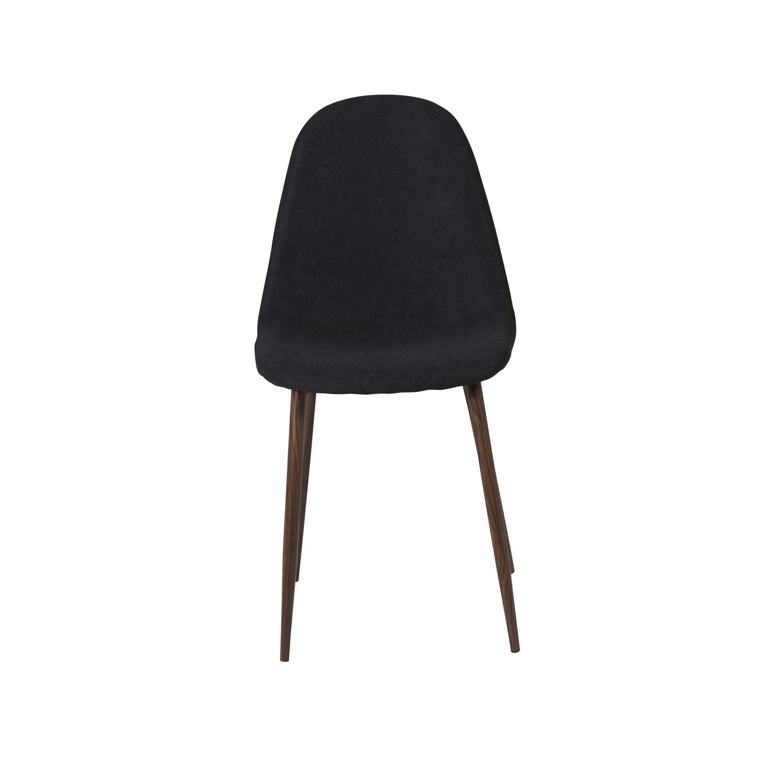 VENTURE DESIGN Polar spisebordsstol - sort polyester og valnødfolie metal