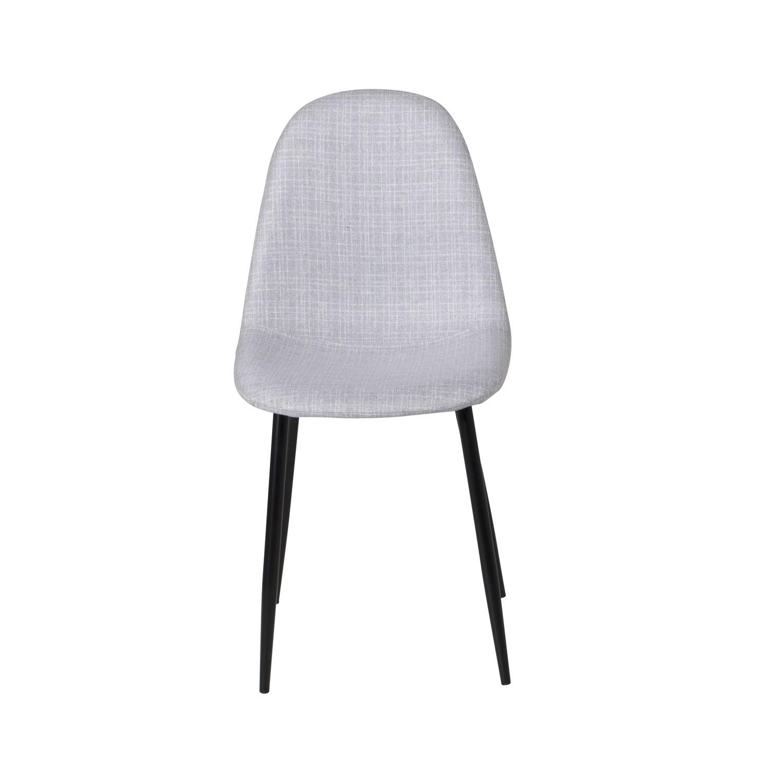 VENTURE DESIGN Polar spisebordsstol - lysegrå polyester og sort metal