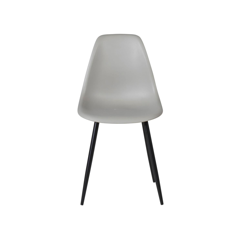 VENTURE DESIGN Polar Plastic spisebordsstol - grå plastik og sort metal