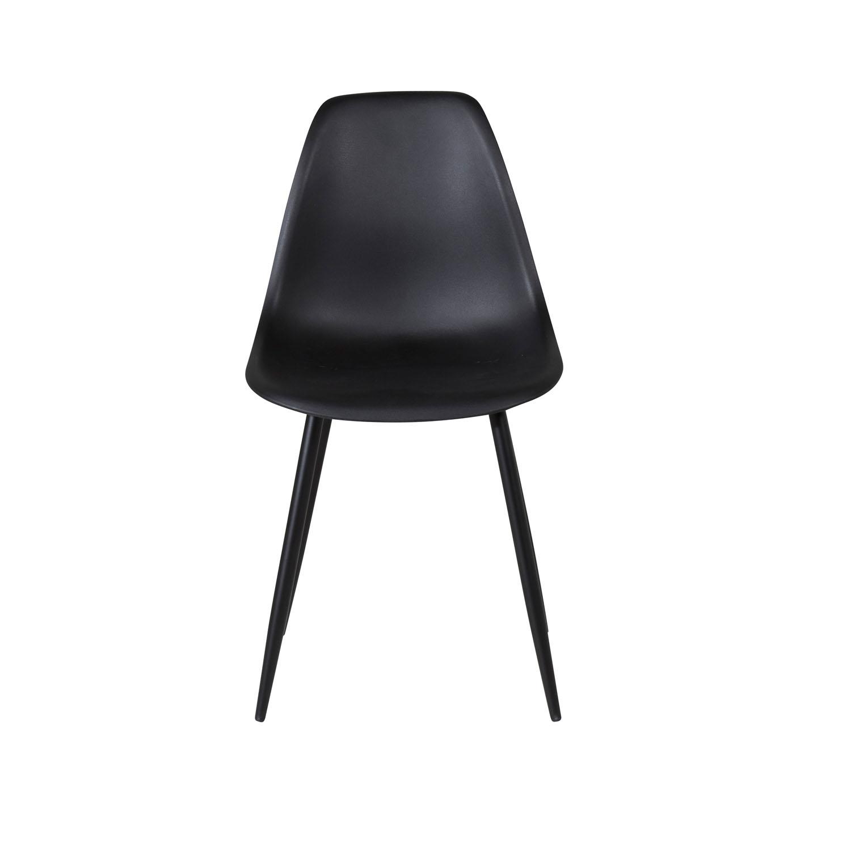 VENTURE DESIGN Polar Plastic spisebordsstol - sort plastik og sort metal