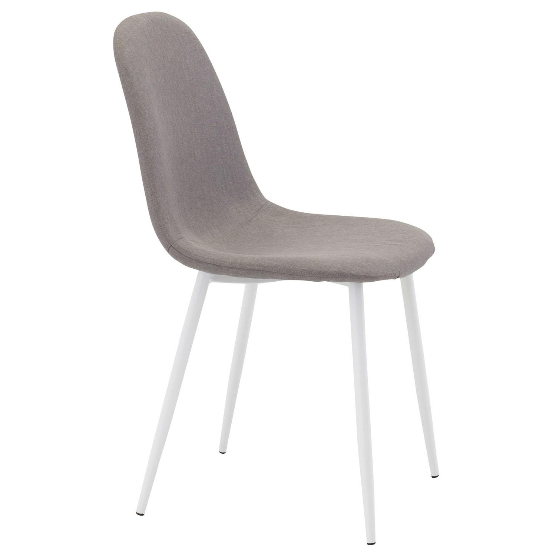 Venture design polar spisebordsstol - grå polyester og hvid metal fra venture design på boboonline.dk