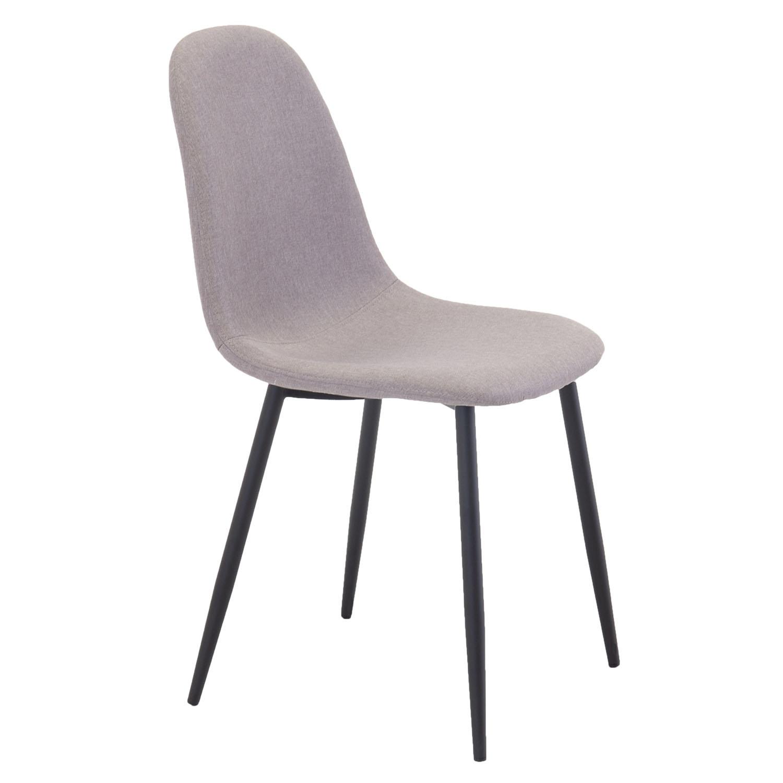 venture design Venture design polar spisebordsstol - grå polyester og sort metal på boboonline.dk