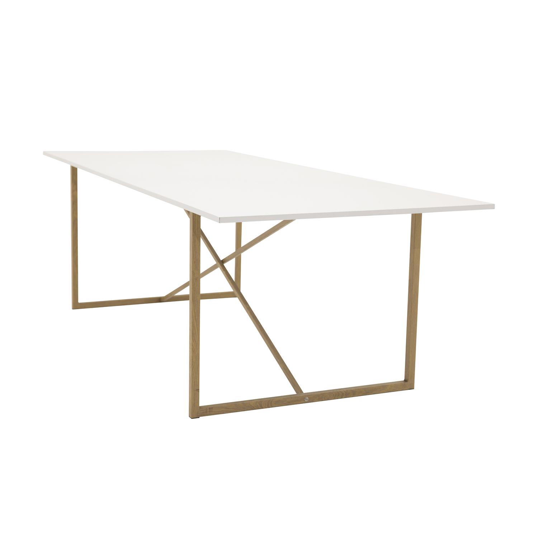 Venture design palace spisebord - hvid mdf og natur metal fra venture design fra boboonline.dk
