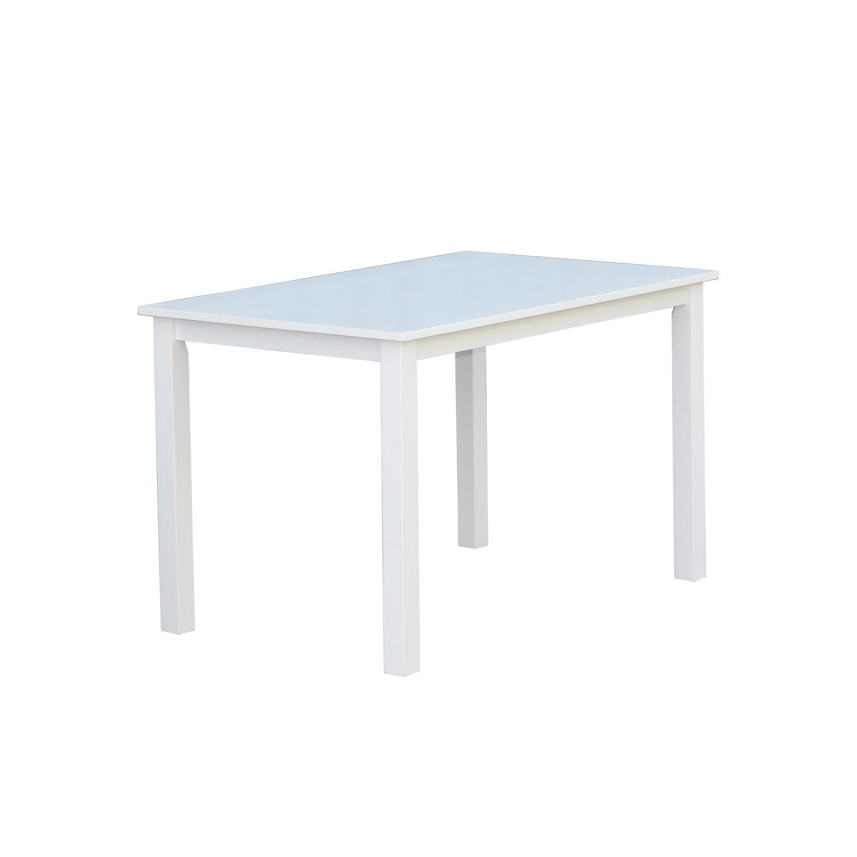 Venture design backagård spisebord - hvid gummitræ (120xx75) fra venture design fra boboonline.dk
