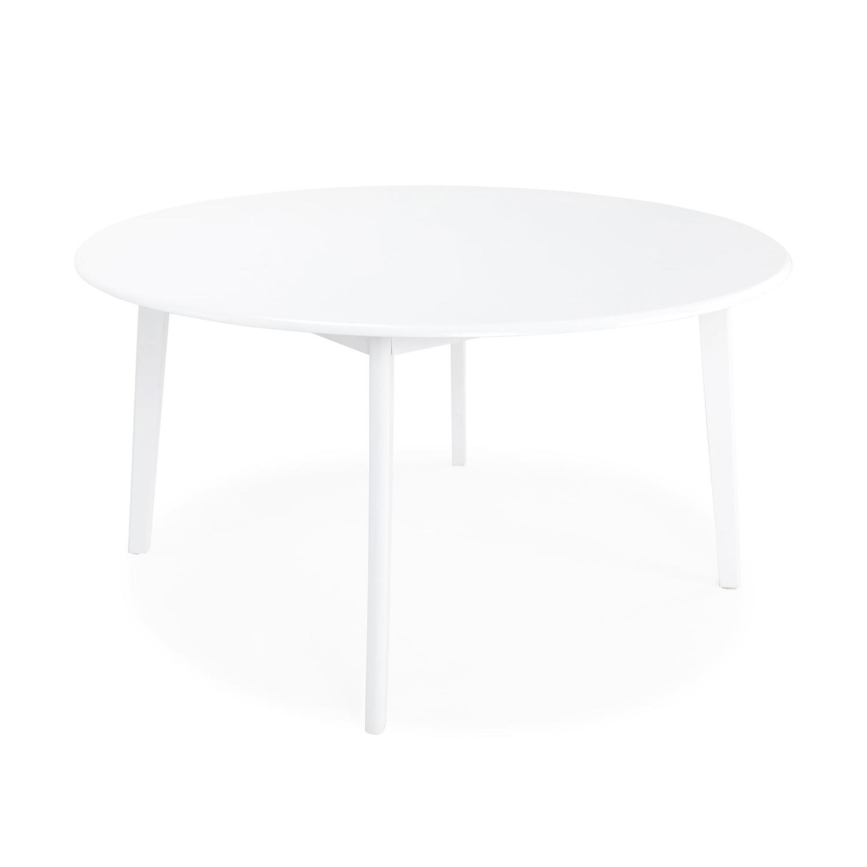 Venture design backagård spisebord - hvid gummitræ (ø140) fra venture design fra boboonline.dk