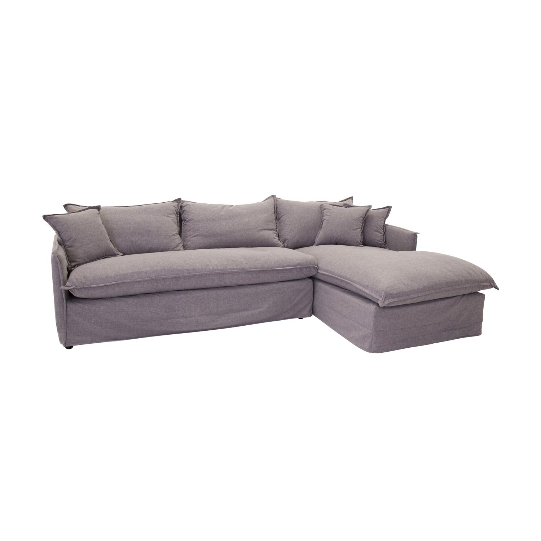 VENTURE DESIGN Nova sofa m. chaiselong, venstre - grå stof og plastik