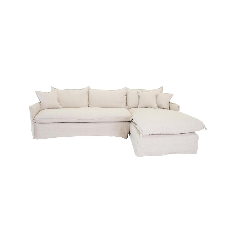 VENTURE DESIGN Nova sofa m. chaiselong, venstre - beige stof og plastik