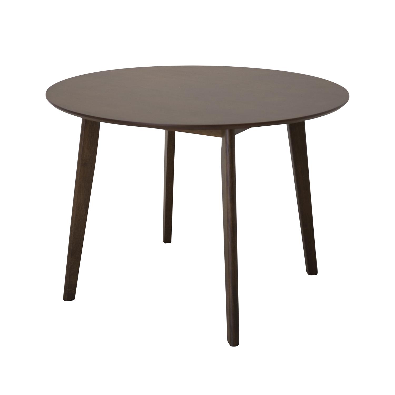 VENTURE DESIGN Walle spisebord - brun MDF og gummitræ (Ø106)