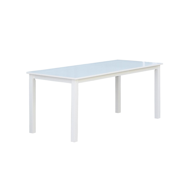 Venture design backagård spisebord - hvid gummitræ (180x90) fra venture design på boboonline.dk