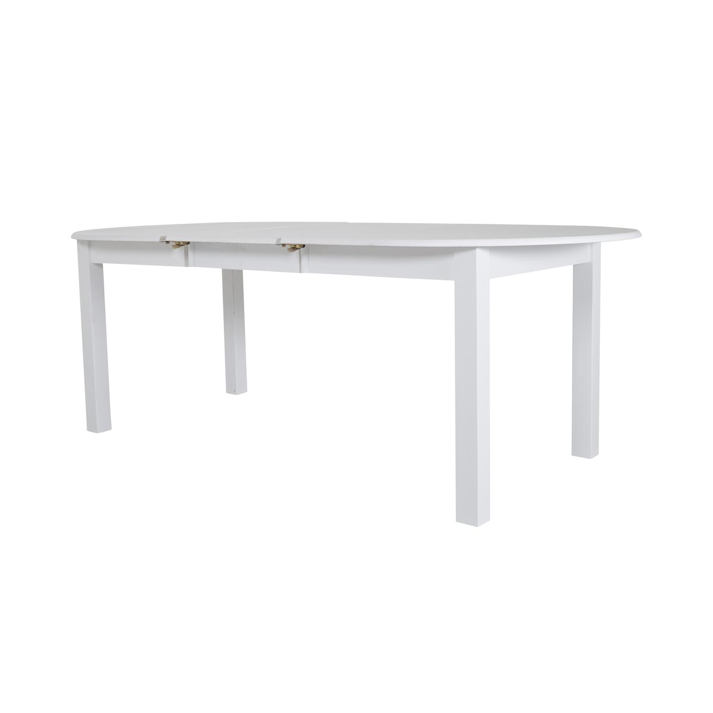 Venture design backagård spisebord, m. udtræk - hvid gummitræ (160x100) fra venture design fra boboonline.dk