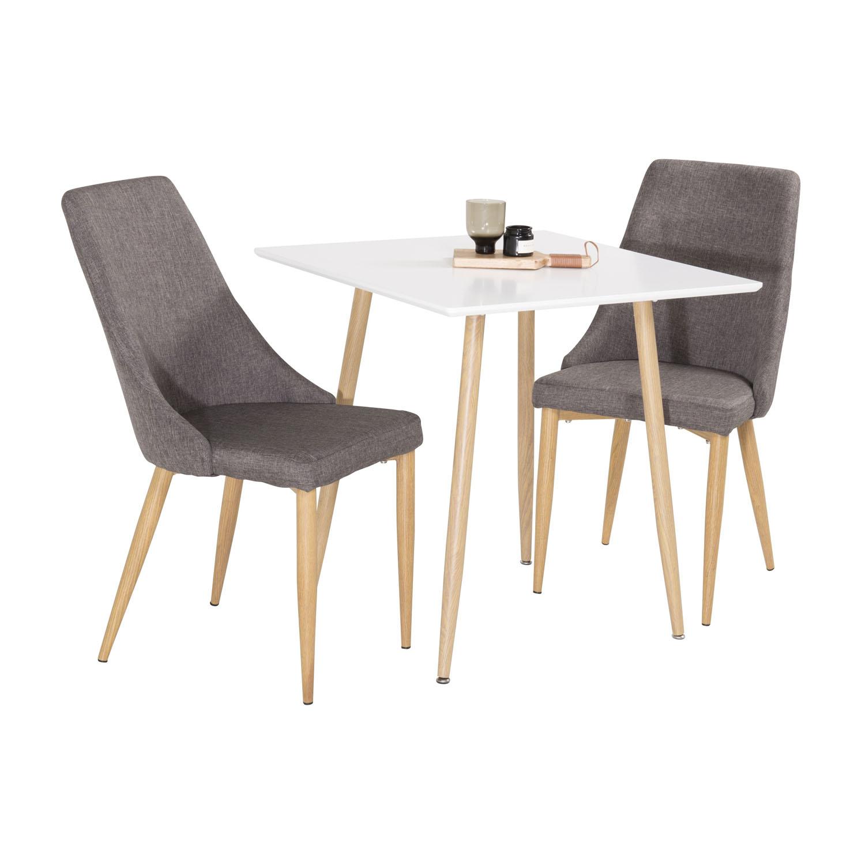 venture design Venture design polar spisebord - hvid mdf og natur jern (75x75) på boboonline.dk