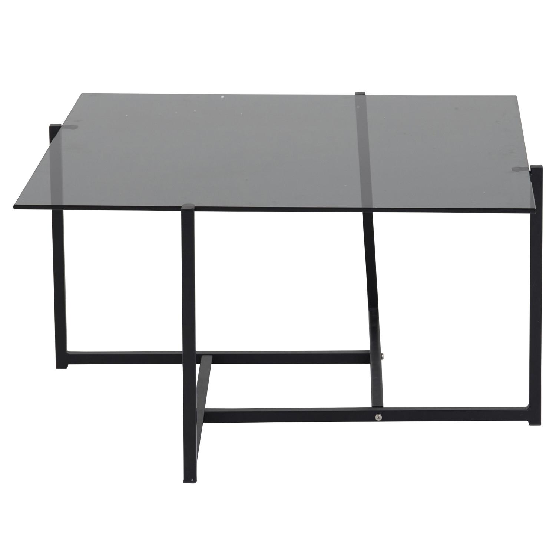 Venture Design Hybrid Sofabord - Grå Glas Og Sort Jern (80X80)