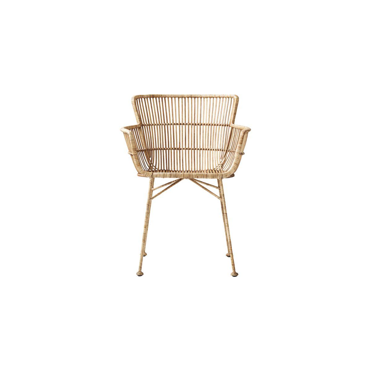 house doctor – House doctor coon spisebordsstol med armlæn, natur, rattan på boboonline.dk