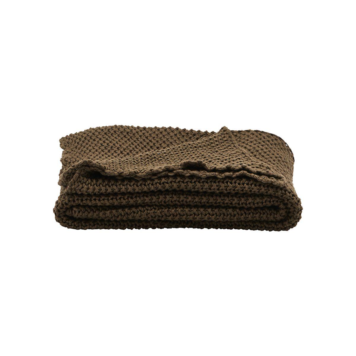 house doctor House doctor solid tæppe - hennagrønt bomuld (170x130) fra boboonline.dk