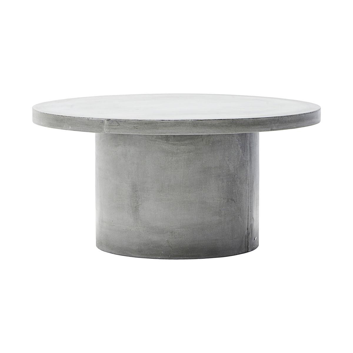 House doctor gallery sofabord - grå cement (ø 90) fra house doctor på boboonline.dk