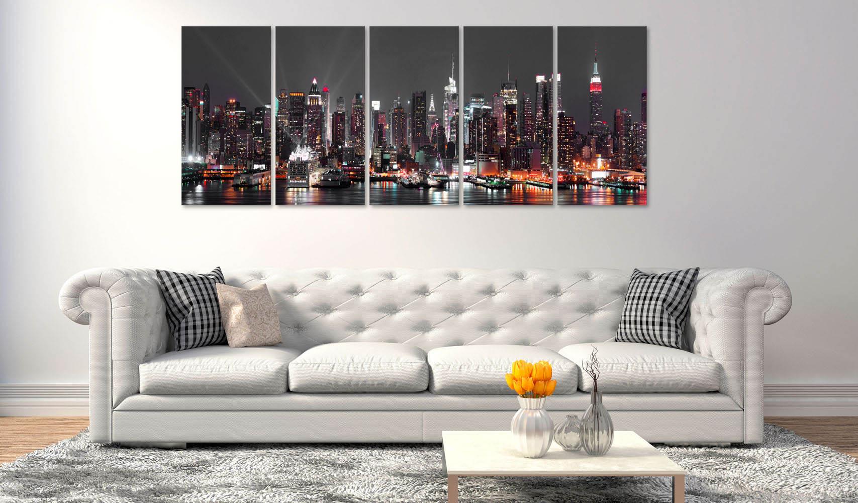 Picture of: Artgeist Billede New York Insomnia Pa Laerred Billeder Byer Bobo Mobler Boligtilbehor Og Indretning Til Hjemmet