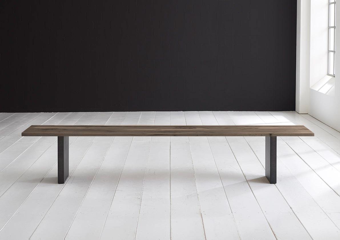 bodahl – Bodahl concept 4 you spisebordsbænk - massiv egetræ m. t-ben 240 x 40 cm 3 cm 02 = smoked fra boboonline.dk