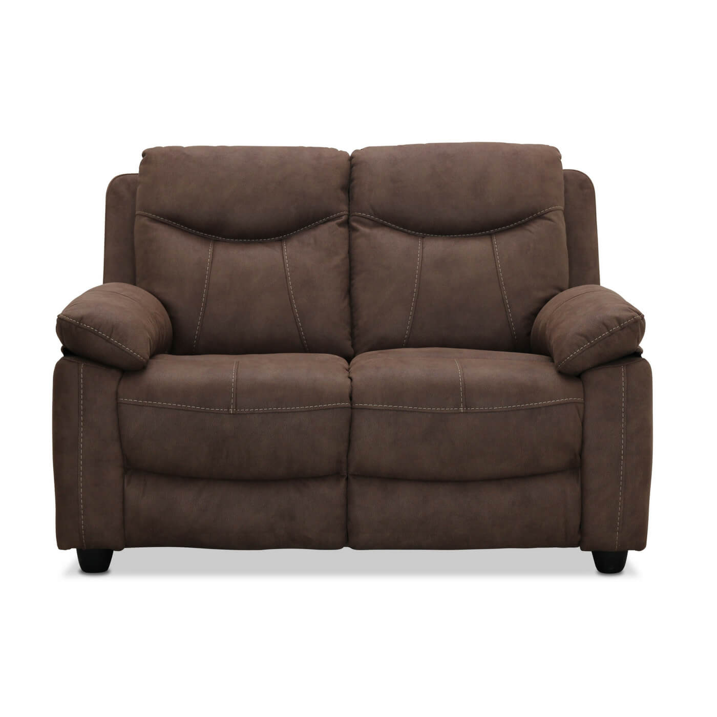 Image of   Boston 2 personers sofa, brun stof