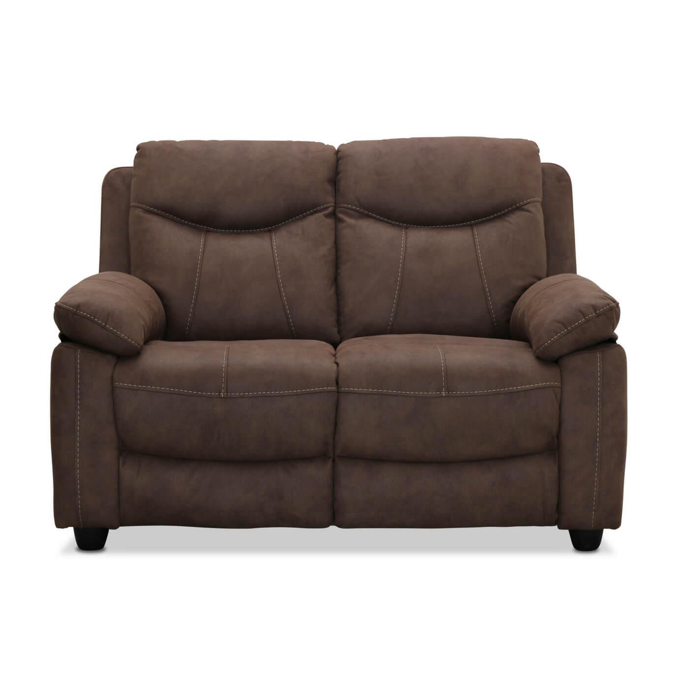 Boston 2 personers sofa, brun stof fra haga gruppen fra boboonline.dk