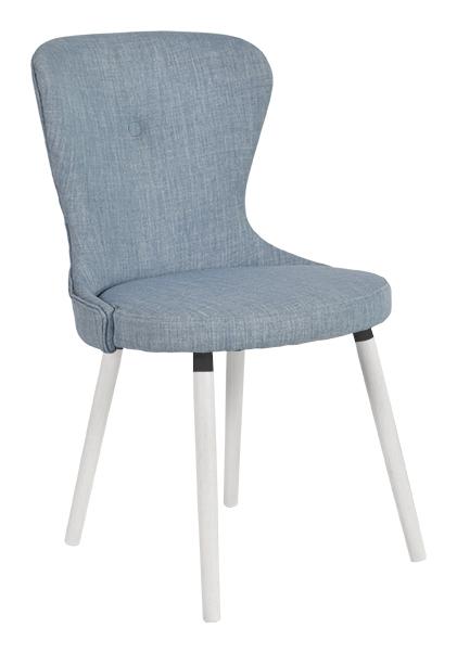 rge Rge betty spisebordsstol - blå stof, uden armlæn fra boboonline.dk