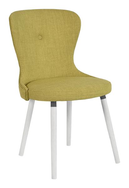 rge rge betty spisebordsstol - grøn stof, uden armlæn