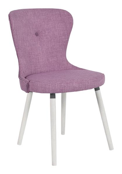 Rge betty spisebordsstol - lilla stof, uden armlæn fra rge fra boboonline.dk