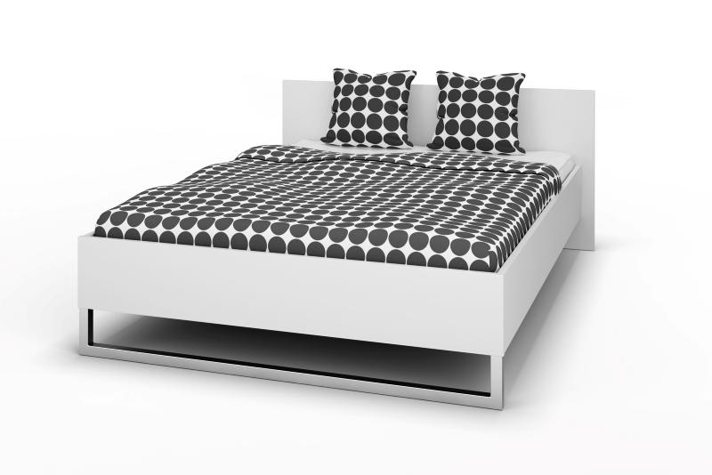 Style Sengeramme - Hvidt/sort ask/eg, (140x200) Hvid