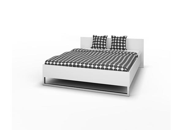 Style Sengeramme - Hvidt/sort ask/eg, (160x200) Eg