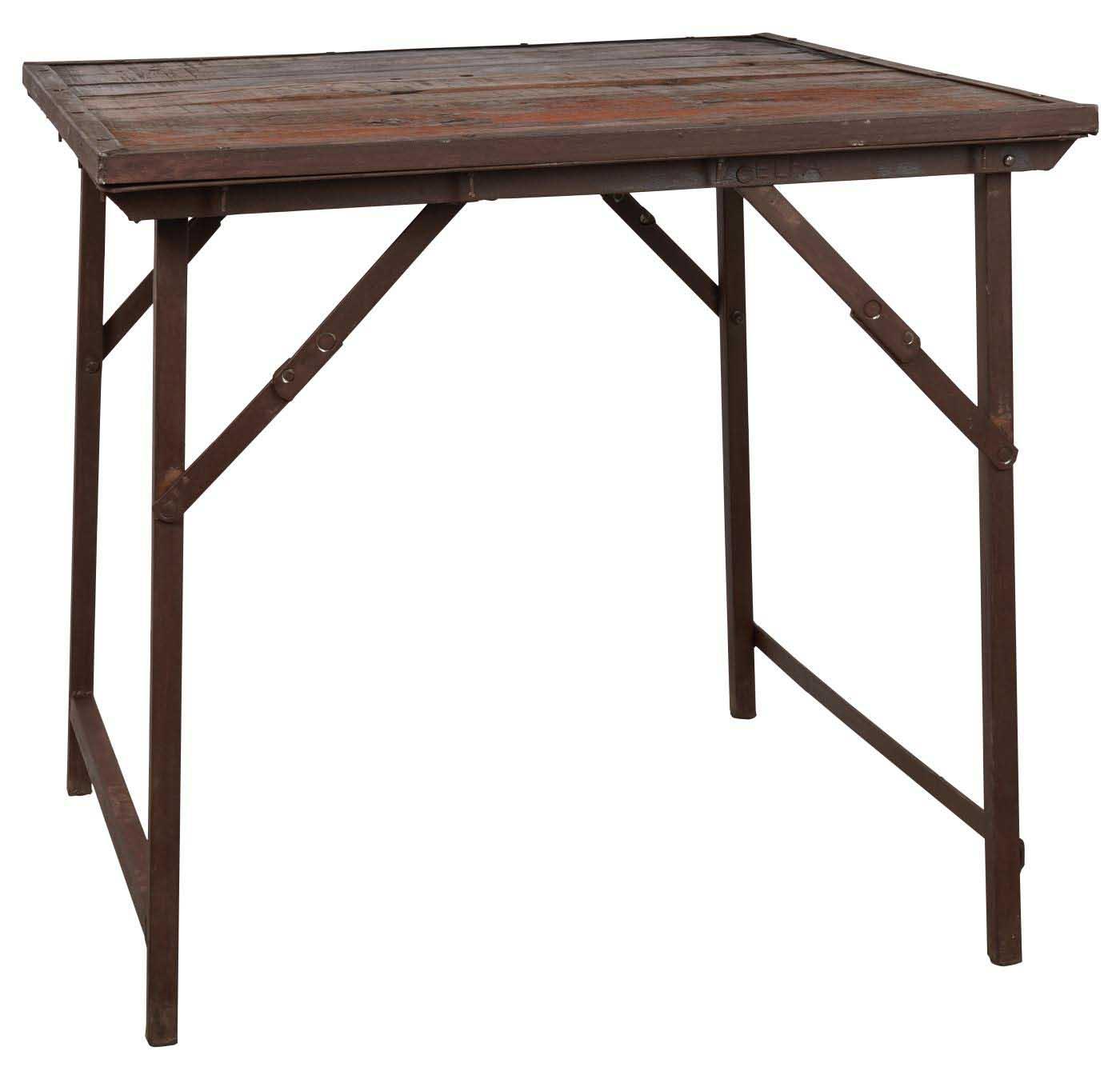 IB LAURSEN Unika cafébord - genbrugstræ, metalstel